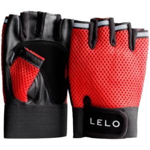 LELO F1s handskar i rött och svart