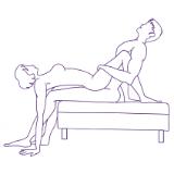 illustration av man och kvinna i Zero to 60 sexställning